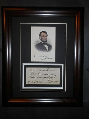 Abraham Lincoln Letter 1862 to Charles Sumner Mary Todd