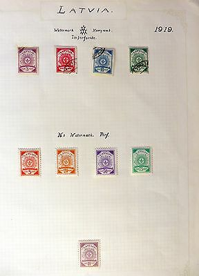 LATVIA Collection on 7 Pages Mint/Used MIXED CONDITION FP8839