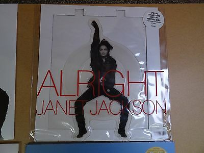 "Janet Jackson, Alright, 7"" Ep Collector's  Edition Picture Disc 1990 Uk Ex/ex"