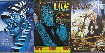 LIVE FILLMORE POSTER SET OF 3 Cyclefly ORIGINAL Bill Graham Eng Chuck Sperry