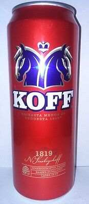 KOFF New design 0,45l beer can from Russia