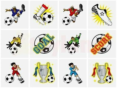 24 Temporary Transfer Football tattoos, party bag fillers fundraiser schools.