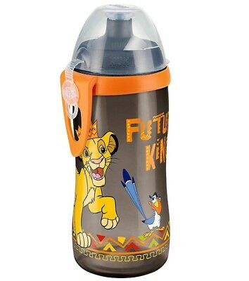 NUK 10255308 Trinkflasche Disney Lion King Junior Cup, 300ml mit Push-Pull-Tülle