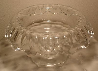 Early Brilliant Period Cut Glass Rolled Edge Footed Compote