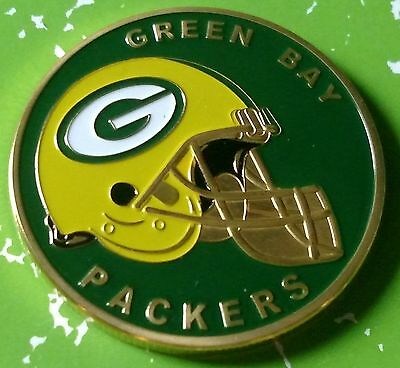 Nfl Green Bay Packers Football Team Colorized Gld Art Round