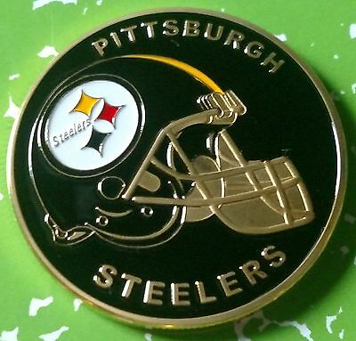 Nfl Pittsburgh Steelers Football Team Colorized Gld Art Round