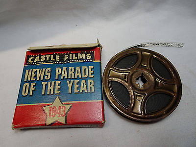 WWII Castle Film News 8mm Movie Reel News Parade of the Year 1943