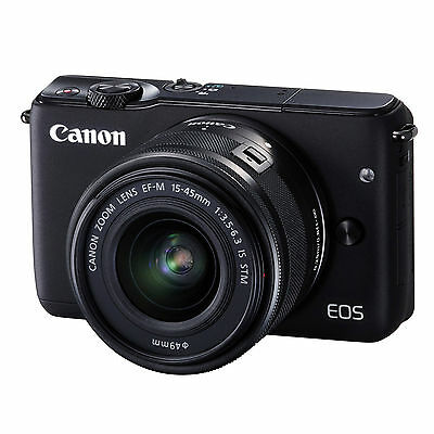 Canon EOS M10 EF-M 15-45mm IS STM Kit (Black) & FREE 32GB SDHC *NEW*