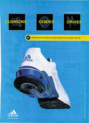 "2002 Adidas ""Energy Management System"" Running Shoe Print Advertisement"