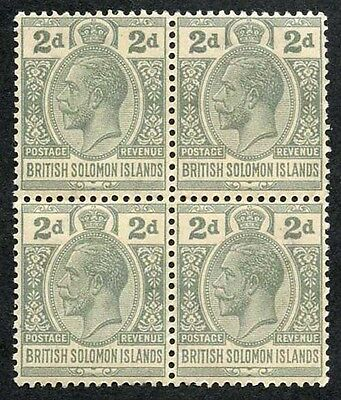 British Solomon Islands SG42 KGV 2d Slate-Grey wmk Mult Script U/M Block