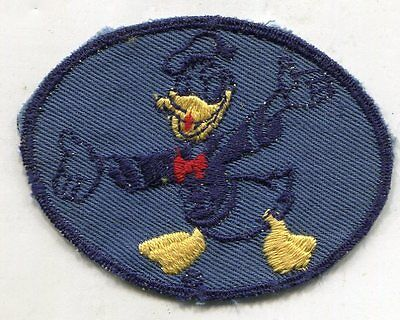 Original WWII Donald Duck Disney Patch BLUE