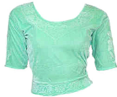 Verde lime Unitamente Top Choli per Sari Di Bollywood Tgl S fino a 3XL