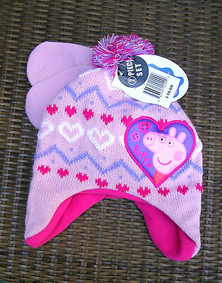 """""""special""""  """"peppa Pig""""  Infant/toddler  Girl's Hat And Mittens Set   Nwt"""