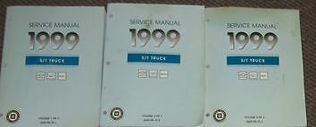 1999 Chevy BLAZER S10 S-10 SONOMA JIMMY S/T Service Shop Repair Manual SET GM