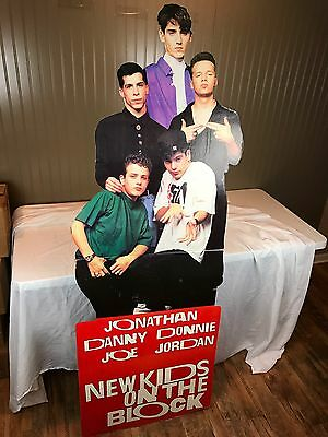 New Kids On The Block Giant Cardboard Cutout Stand Alone 1980s RARE Poster NKOTB