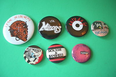 Pin Pinback Buttons Rare Ones The Plasmatics Siouxsie & The Banshees Pole Cats
