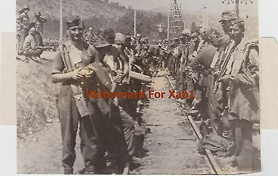 WW2 1944 Press Radio Photo German Prisoners in Southern France awaiting removal