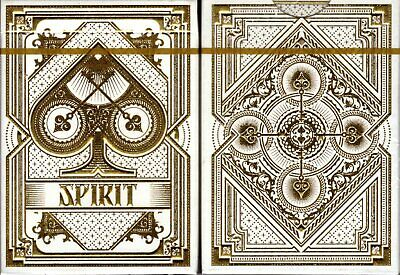 Spirit White Deck Playing Cards Poker Size USPCC Custom Limited Edition Sealed
