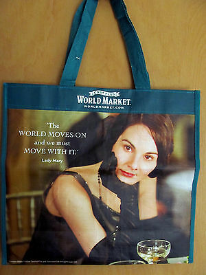 NEW Downton Abbey World Market 2014 Reusable Tote Shopping Bag Lady Mary