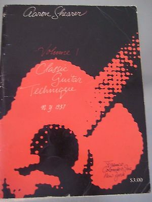 Aaron Shearer Classic Guitar Technique Volume 1 2nd Ed. 1963.