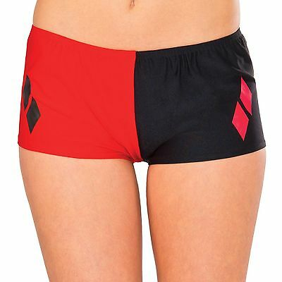 Harley Quinn Boy Shorts for Halloween Costume DC Comic Suicide Squad Red Black