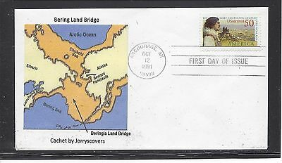 Bering Land Bridge Fdc 1991 Anchorage, Alaska Only One Made