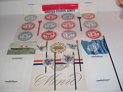 SS UNITED STATES LINES (29) Various Collectibles........All New/Old Stock Items