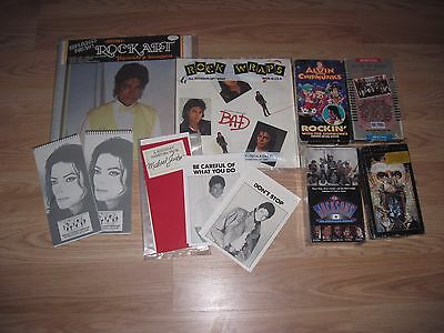 Michael Jackson Fan Club Note Pads/Tapestry/Gift Wrap/Greeting Cards/VHS Tapes