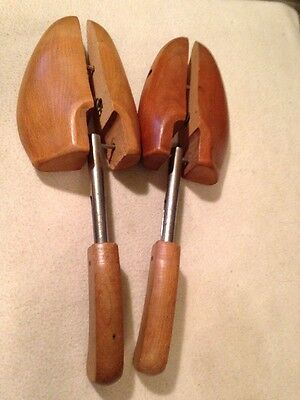 Pair of 2 Vintage Wood Rochester Shoe Tree Mohawk #5