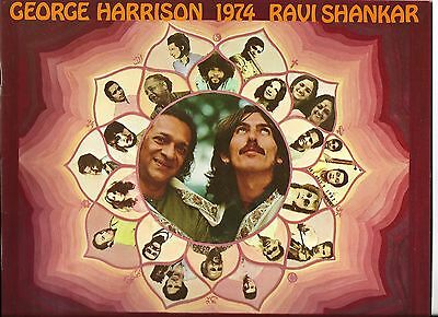 Rare George Harrison & Ravi Shankar 1974 Tour Program