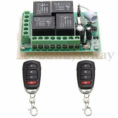 AU DC 12v Relay 1CH Wireless RF Remote Control Switch Transmitter+2 Receiver