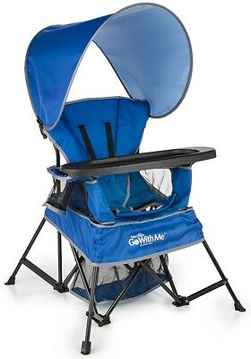 Baby Delight Go With Me Portable Travel Kids Chair w/ Carry Bag Blue BD5060 NEW