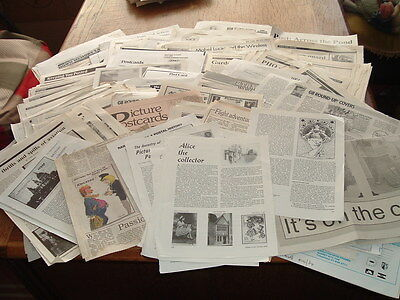 2½ kgs  POSTCARD EPHEMERA  100's Articles,Information,Snippets,Cuttings 1980's
