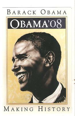 BARACK OBAMA POSTCARD   MAKING HISTORY  unused  FINE