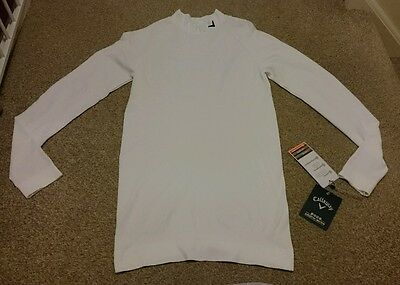 New Callaway white compression base layer, Thermal under top. XXL. Sports. Golf.