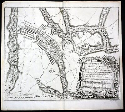 Ramillies / Belgique - Plan of the Situation in which the Battle of Ramillies wa