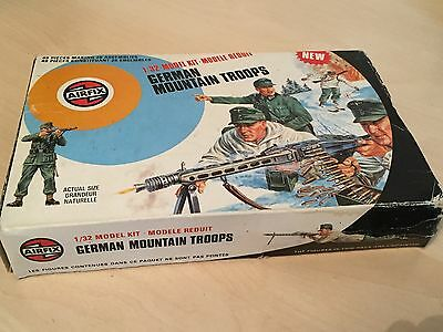 Vintage Boxed Airfix 32nd Scale German Mountain Troops