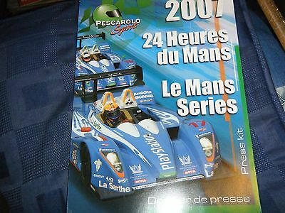 Pescarolo Sport Press Pack 2007 24 Heures Hours Le Mans Rare