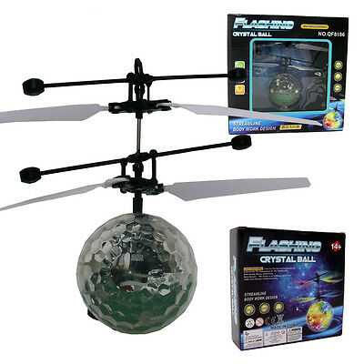 interesting Children Kid Flying RC Ball Led Flashing Light Aircraft Helicopter