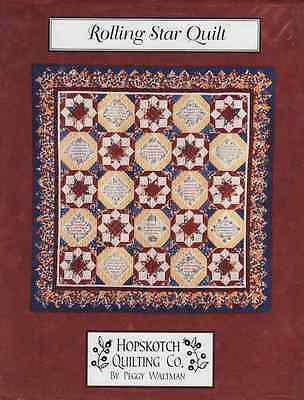 Rolling Star Quilt Pattern Hopskotch Quilting Co by Peggy Waltman Patchwork Sew