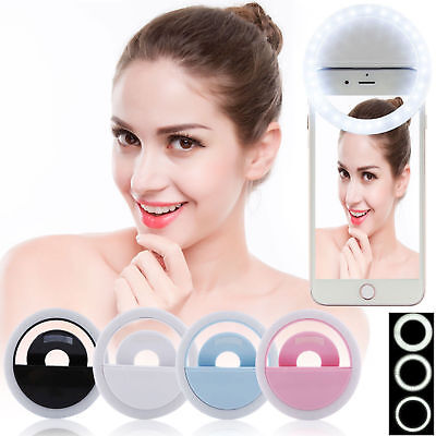 Rechargeable Selfie Ring Fill Light Up Flash Camera Luminous LED for Cell Phone