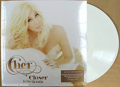 CHER LP Closer To The Truth WHITE VINYL Limited Edition SEALED 2013 + Promo Sht
