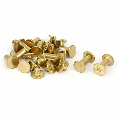 5x10mm Brass Plated Binding Chicago Screw Posts 14pcs for Album Leather