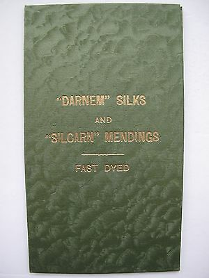 VINTAGE SHADE CARD FOR SILK THREADS 1930s