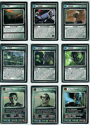 Star Trek Ccg Enhanced First Contact, Complete Set Of 16 Cards