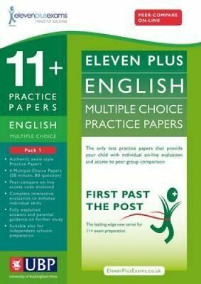 11+ English Multiple Choice Practice Papers: Pack 1 9781908684103