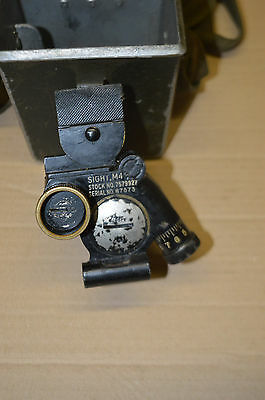 WWII US Army Airborne  60mm 81mm mortar sight m4
