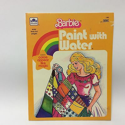 Vintage Barbie Doll Collectables - 1983 Paint With Water Unused (Golden) 1785