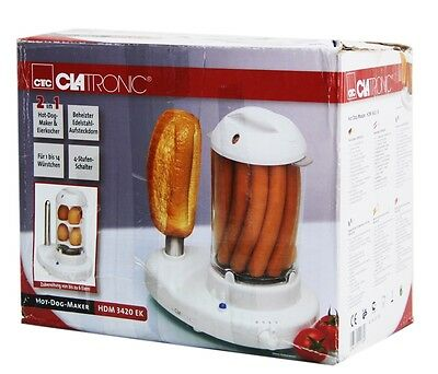 Clatronic HDM 3420 EK Hot-Dog-Maker inklusiv Eierkocher NG618 C
