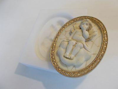 Pair Of Silicone Rubber Moulds Cherubs On Clouds Crafts Gifts Make Diy Create